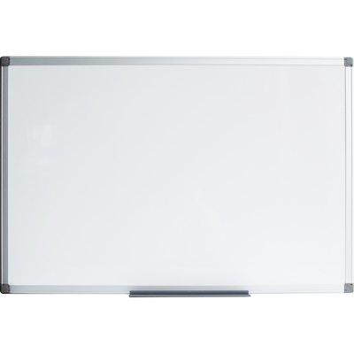 Pizarra blanca A Series de acero vitrificado y marco de aluminio SC3212